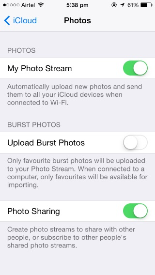 Back up iPhone photos with iCloud
