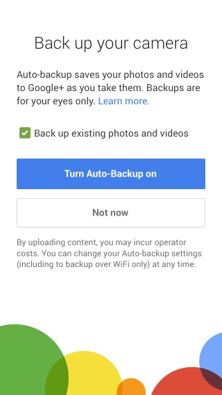 Auto-Backup your photos with Google+