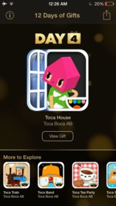 Day 4 of Apple's 12 Days of Gifts offers Kids game Toca House for free