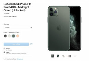 Apple Now Selling Refurbished iPhone 11, iPhone 11 Pro, and iPhone 11 Pro Max